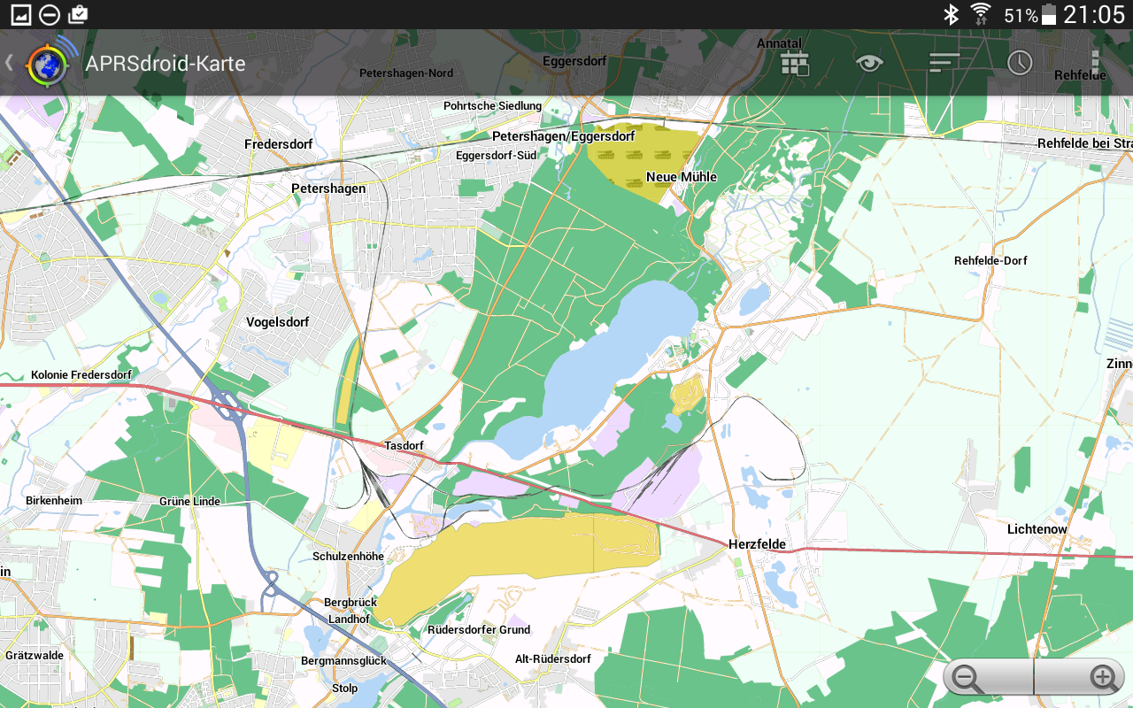 Using APRSdroid offline with OpenStreetMap › HAMSPIRIT NET